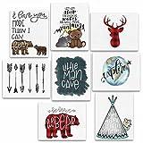 8 Piece Woodland Animal Adventure Nursery Prints - 8x10