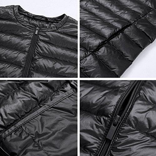 Doudoune Petalum Hiver Swag Noir Casual Chic Mode Blouson Veste Femme Casual sans Automne Manteau Haut Col Sport Chaud Jacket Gilet Manches rqHTr