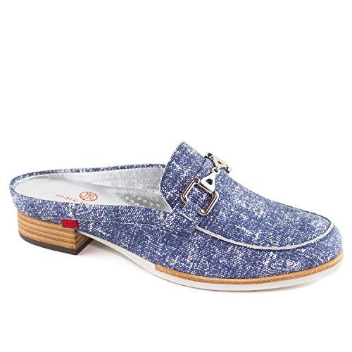 Donna Vera Pelle Made In Brasile Casual Park Ave Mule Marc Joseph Ny Moda Scarpe Jeans Blu
