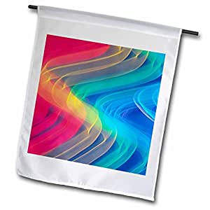 Danita Delimont - Artistic Abstracts - Neon Colors and Lighting with Nightzoom-AB01 MGI0049 - Mark Gibson - 18 x 27 inch Garden Flag (fl_69827_2)