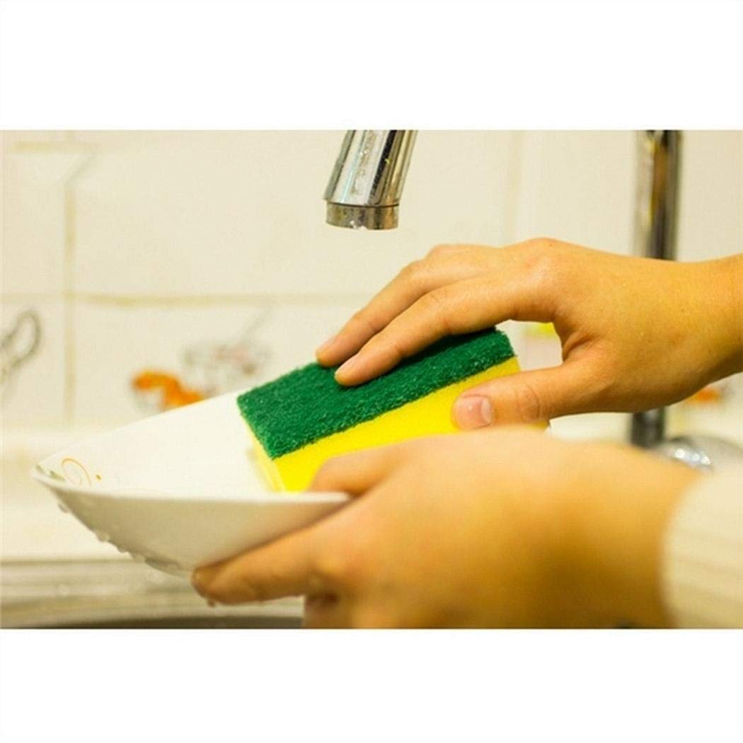 Eubell Dishwashing Sponge, Double Layer Soft Strong Water Absorption Built Strong to Last Long