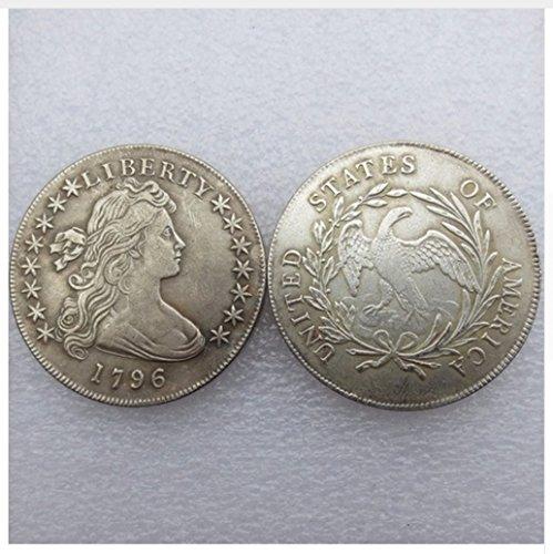 - Rare Antique USA United States 1796 Liberty Silver Color Dollar Coin