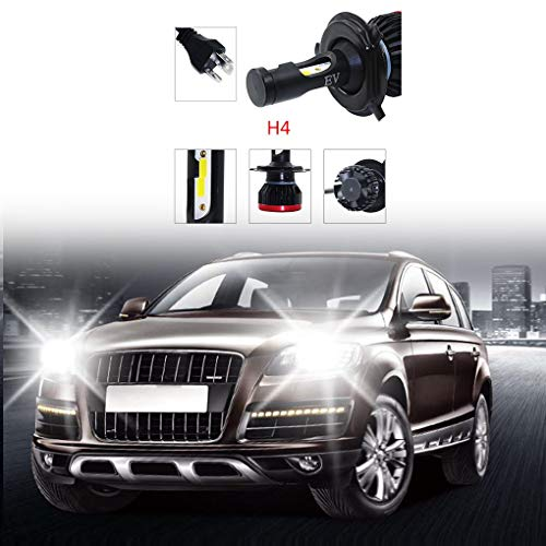 2pcs H4 LED voiture diurne de conduite Ampoule 100W 6500K 20000LM 360 degrés Auto-phares Republe: Amazon.es: Coche y moto