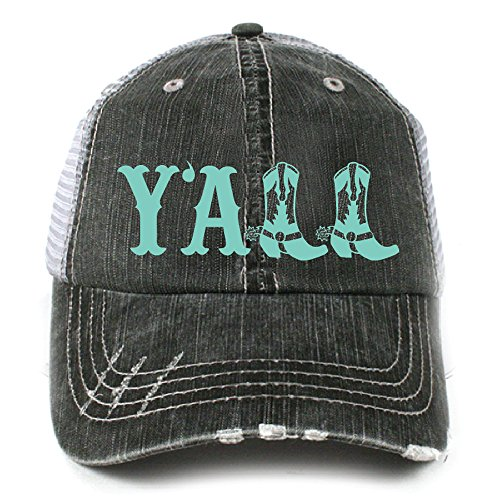 Y'all Southern Country Women's Trucker Hat Cap by Katydid