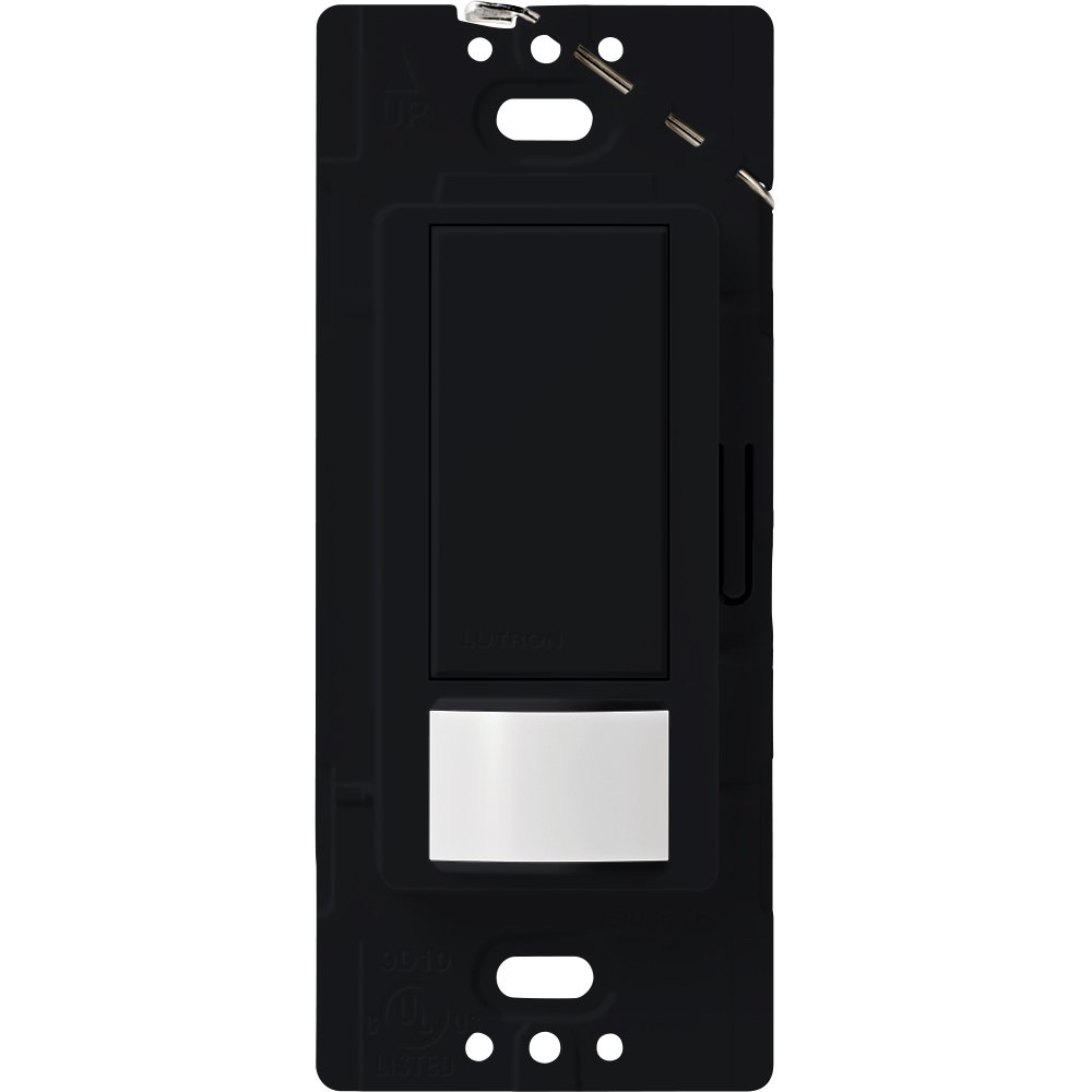 Lutron Maestro Sensor switch, 2A, No Neutral Required, Single-Pole, MS-OPS2-BL, Black by Lutron (Image #1)