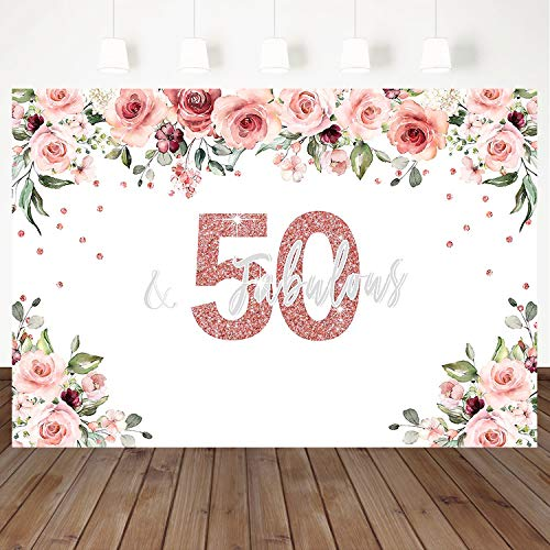 Mocsicka 50 Fabulous Backdrop Watercolor Floral Background Shining