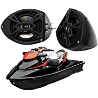 Sea-Doo Pwc Jet Ski Marine Audio Kicker Ks525 Custom 5 1/4 Black Speaker Pods