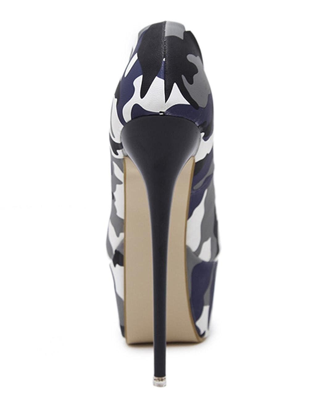 MNII Damen Damen Damen Damen Plattform High Heel Abend Glitter Party Court Schuhe Pumps Größe- Modeschuhe 79734e