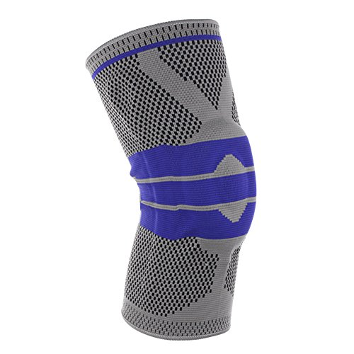 Crystalzhong Knee Guards Fitness Breathable Winding Equipment Maintenance 1 Piece Knit Exercise Knee Pressure Cycle Running Basketball Knee Support (Color : Gray, Size : Medium)