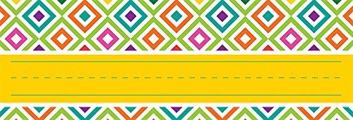 Eureka You Can Toucan Teacher Supplies Self-Adhesive Name Plates, 36 pcs, 9.5'' x 3.25''