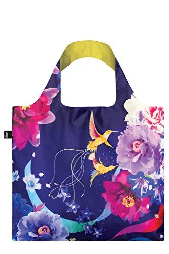 LOQI Sn.Hu Shinpei Naito Hummingbirds Reusable Shopping Bag, Multicolored
