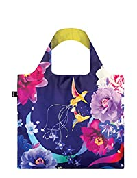 LOQI SN.HU Reusable Tote Bag Shinpei Naito Hummingbirds Print, Multi, United States Carry-On