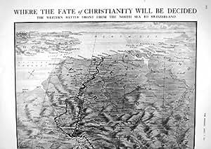 Impresión Antigua de la Nave de Transporte Minada Amberes Occidental de Francia de la Batalla de 1917 Mapas Tyndareus