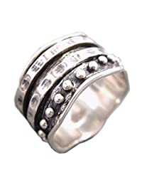 "Energy Stone ""HER RING"" - Bold Look from the Couple Collection Meditation Spinning Ring (Style SR34)"