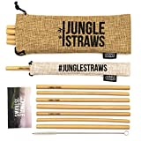 Jungle Straws | Reusable Bamboo Drinking Straws 8"