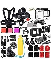 Kupton Tauchen Objektiv Filter Kit für GoPro Hero8 Black Schnorchelfilter Scuba Dive Color Correction Zubehör 3er Pack (Rot, Hellrot, Magenta) - Passend für Kupton Wasserdichtes Gehäuse für GoPro 8