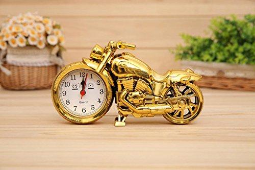 Luxury Retro Motorcycle Style Alarm Clock Desk Clock Cool Model Clock Creative Motorbick Home Shelf Decorations Gifts Boutique