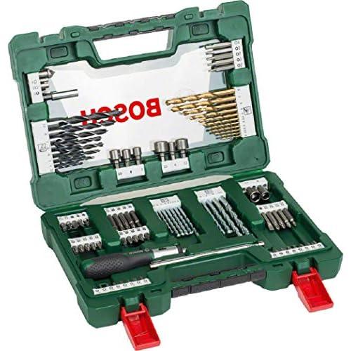 chollos oferta descuentos barato Bosch Home and Garden 2607017195 Bosch V Line Titanio Maletín de 91 unidades para taladrar y atornillar 0 W 0 V Set Piezas
