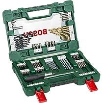 Bosch V-Line Titanio - Maletín de 91 unidades para taladrar y atornillar