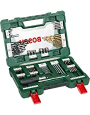 Bosch 91Piece VLine Titanium Set For Drilling and Screwdriving, Comes with Ratcheting Screwdriver
