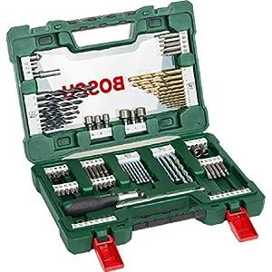 Bosch Professional 2607017195 Bosch V-Line Titanio – Maletín de 91 unidades para taladrar y atornillar, 0 W, 0 V, Set… 51kw2MgC4BL