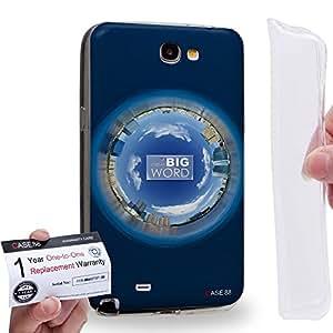 Case88 [Samsung Galaxy Note 2] Gel TPU Carcasa/Funda & Tarjeta de garantía - Art Fashion Navy Blue Humor Inspiration Art1574