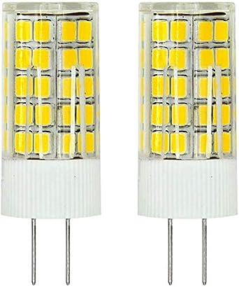 MENGS® Pack de 2 Bombilla lámpara LED 6 Watt G4, 63x2835 SMD, blanco frío 6500K, ACDC 12V