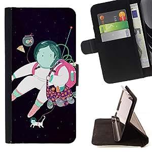 Momo Phone Case / Flip Funda de Cuero Case Cover - Astronauta Resumen Sueño Negro - LG G4 Stylus H540