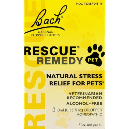 PACK OF 4 - Bach Rescue Remedy Pet Natural Stress Relief for Pets, 0.35 FL OZ