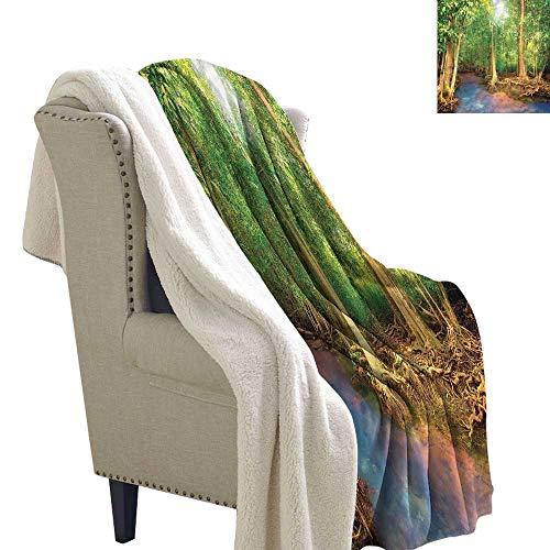 Beihai1Sun Rainforest Lightweight Blanket Roots of Mangrove Trees 60x78 Inch