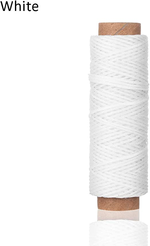 HLLGZXKA 30m / Roll 1mm Hilo Encerado Cordón de algodón Correa de ...