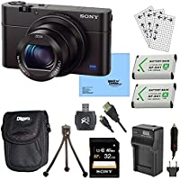 Sony DSC-RX100M III Cyber-shot Digital Still Camera Bundle with 32GB Card, 2 Spare Batteries, Rapid AC/DC Charger, SD Card Reader, Case, LCD Screen Protectors, and Table top Tripod At A Glance Review Image