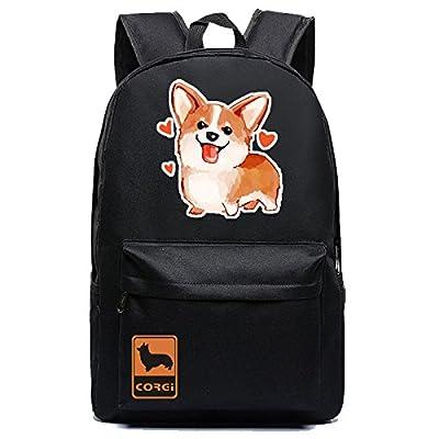 b8026b8fbd27 Kid's Girls Floral Animal Cartoon School Backpack One Corgi Dog ...