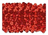 RED 2 INCH Stretch Sequin 10 Yards