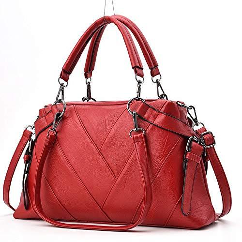 nbsp;bolso Diagonal Pu Hombro Solo 37x10x22cm Suave Bolso Rojo Tote La De Mujer Verde Señora E0vZvaqfW