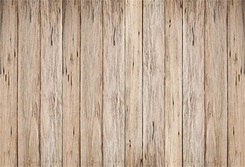 CSFOTO 5x3ft Background for Rustic Brown Wooden Board Photography Backdrop Vintage Wood Wood Floor Aged Wood Texture Wood Plank Hardwood Wood House Barn Child Photo Studio Props Polyester Wallpaper - Background Board