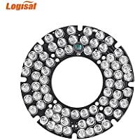 Logisaf 5mm 72 LED Bulbs 60 Degree 940nm Invisible Infrared IR Board for Security Cameras