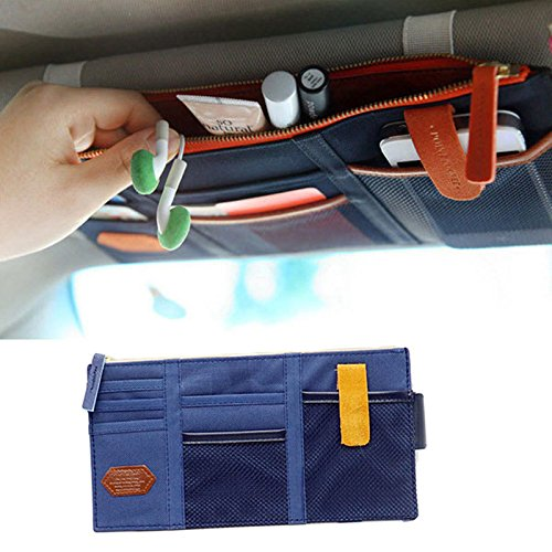 car visor organizer blue - 3