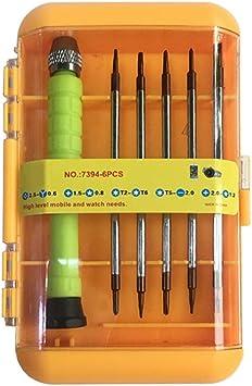 6pc Precision Torx Screwdriver Tool Set Ergonomic Anti-slip Handle Mini Repair