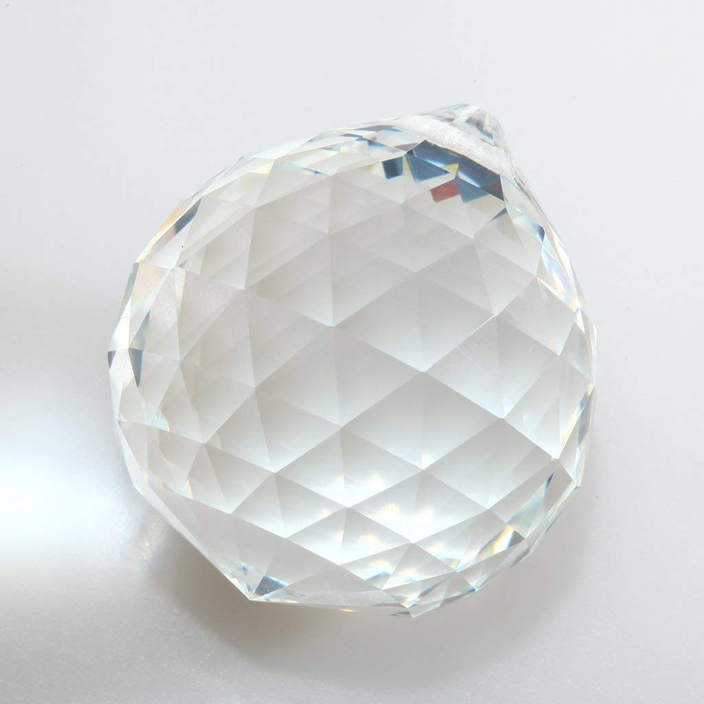 SunAngel Multi-color Glass Crystal Ball Prisms Pendant Feng Shui Suncatcher Decorating Hanging Faceted Prism Balls for Feng Shui/Divination or Wedding/Home/Office Decoration 30mm Pack of 15