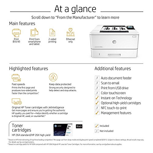 HP LaserJet Pro M402dn Laser Printer with Built-in Ethernet & Double-Sided Printing, Amazon Dash Replenishment ready (C5F94A) by HP (Image #6)