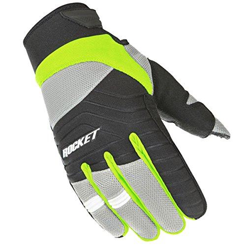 Glove Black Rocket Joe Mesh (Joe Rocket Men's Big Bang 2.1 Gloves (Hi-Viz/Black, Medium))