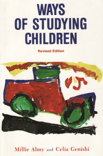 Ways of Studying Children: An Observation Manual for Early Childhood Teachers