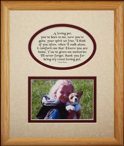Amazon.com : 8x10 LOVING PET Picture & Poetry Photo Gift Frame ...