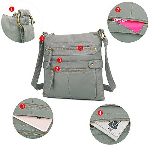 H1820 Bag Scarleton Casual Double Crossbody Ash Zipper xwqfZa8fp