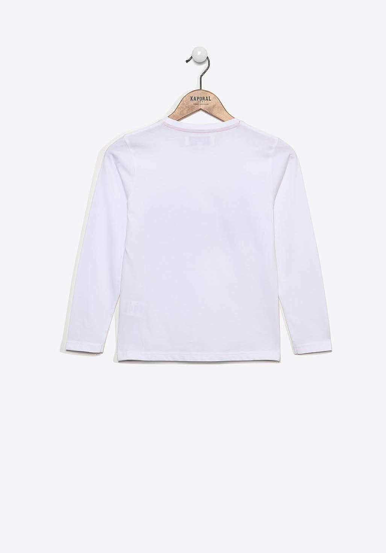 Kaporal T-shirt Manches Longues Gar/çon Breve Blanc