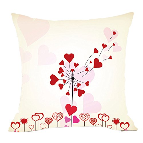 - Throw Pillow Cover, DaySeventh Valentine's Day Fashion Throw Pillow Cases Cafe Sofa Cushion Cover Home Decor D 18x18 Inch 45x45 cm