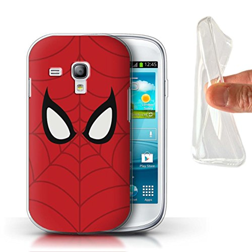 STUFF4 Gel TPU Phone Case/Cover for Samsung Galaxy S3 Mini/Spider-Man Mask Inspired Design/Super Hero Comic Art - Spiderman Samsung Galaxy Case S3