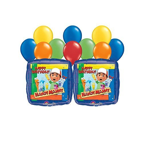 Handy Manny Balloon Bouquet 12 pc - Handy Manny Party Treat
