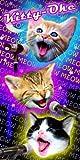 Best Rainbow Towel For Bath Beaches - Cats Kitty-Oke Velour Beach Towel Review